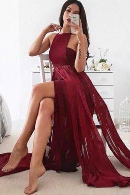 prom dresses,2017 prom dresses,Burgundy long prom dress ,burgundy evening dresses,sexy back prom dresses,prom dresses for women,